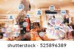marketing data management...   Shutterstock . vector #525896389