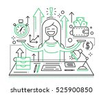 time is money   illustration of ... | Shutterstock . vector #525900850