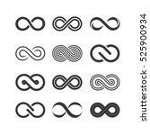 infinity symbols set | Shutterstock .eps vector #525900934