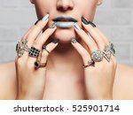 woman's hands with jewelry... | Shutterstock . vector #525901714