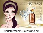 hyaluronic acid moisturizing... | Shutterstock .eps vector #525906520