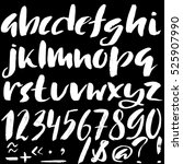 hand drawn font made by dry... | Shutterstock .eps vector #525907990