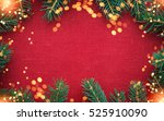 christmas background with xmas... | Shutterstock . vector #525910090