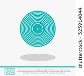 vinyl record vector icon. | Shutterstock .eps vector #525914044