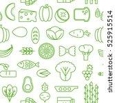healty food cartoon seamless... | Shutterstock .eps vector #525915514