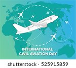 international civil aviation... | Shutterstock .eps vector #525915859