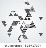 vector hipster triangle... | Shutterstock .eps vector #525917374