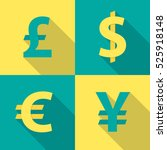 currency exchange icons with... | Shutterstock .eps vector #525918148