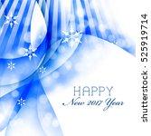modern abstract blue christmas... | Shutterstock . vector #525919714