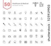 healthcare and medical icon set.... | Shutterstock .eps vector #525919903