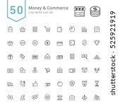 money and commerce icon sets.... | Shutterstock .eps vector #525921919