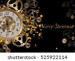 merry christmas  illustration ... | Shutterstock .eps vector #525922114