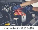 maintenance car battery by... | Shutterstock . vector #525924139