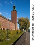 Small photo of STOCKHOLM, SWEDEN - OCTOBER 04, 2016: Stockholm City Hall, the historical building of the Municipal Council built in the national romanticism style and situated in the city center