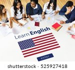 learn english language online... | Shutterstock . vector #525927418