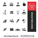 education icons clean vector | Shutterstock .eps vector #525932110