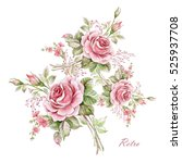 Watercolor Floral Composition...