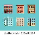 set of old and modern apartment ... | Shutterstock .eps vector #525938134