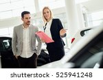 salesperson selling cars at car ... | Shutterstock . vector #525941248