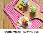 delicious cupcakes.colorful... | Shutterstock . vector #525941458