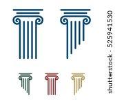pillar logo template for lawyer ... | Shutterstock .eps vector #525941530