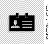 identification card   black... | Shutterstock .eps vector #525941998