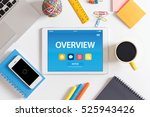 overview concept on tablet pc... | Shutterstock . vector #525943426
