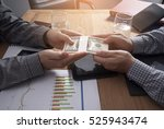 businessman hand giving money   ... | Shutterstock . vector #525943474