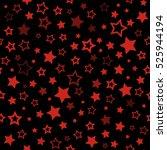 red stars seamless pattern.... | Shutterstock . vector #525944194