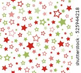 stars pattern. seamless... | Shutterstock . vector #525944218