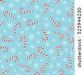 christmas seamless blue pattern ... | Shutterstock . vector #525944230