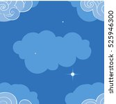 seamless pattern with clouds.... | Shutterstock .eps vector #525946300