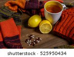 the composition of winter... | Shutterstock . vector #525950434