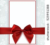 blank greeting card with red... | Shutterstock .eps vector #525951388