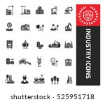 industry icons design clean... | Shutterstock .eps vector #525951718