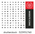 website icon set clean vector | Shutterstock .eps vector #525951760