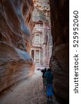 the end of the siq passageway... | Shutterstock . vector #525952060