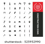 construction and engineer tool ... | Shutterstock .eps vector #525952990