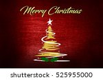 christmas background with... | Shutterstock . vector #525955000