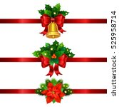 holiday christmas decorations... | Shutterstock .eps vector #525958714