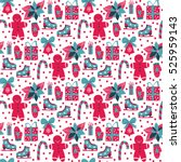 vector seamless pattern with... | Shutterstock .eps vector #525959143
