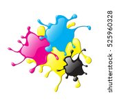 colored varnish splashes in... | Shutterstock .eps vector #525960328
