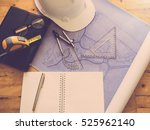 architect concept  architects... | Shutterstock . vector #525962140