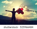 cheering young asian woman on...   Shutterstock . vector #525966484