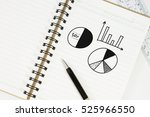 drawing bar chart and other... | Shutterstock . vector #525966550