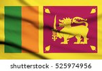 sri lanka flag waving | Shutterstock . vector #525974956