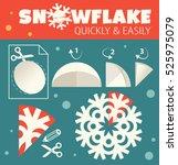 paper snowflake pattern...   Shutterstock .eps vector #525975079