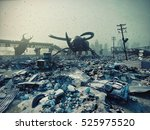 ruined city by giant insects....   Shutterstock . vector #525975520