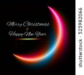 merry christmas and happy new... | Shutterstock .eps vector #525982066