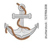 anchor. illustration isolated... | Shutterstock . vector #525986308